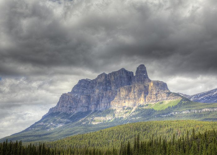 Castle Greeting Card featuring the photograph Castle Mountain 2011 by Monte Arnold