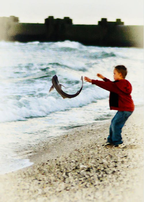 Catch And Release Greeting Card featuring the photograph Catch And Release by Bill Cannon
