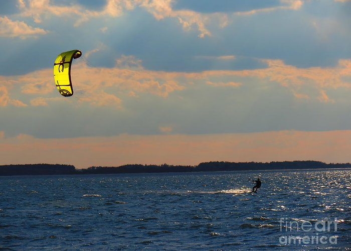 Kite Greeting Card featuring the photograph Catch The Wind by Rrrose Pix