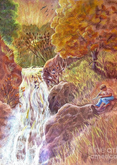 Autumn Scenes Drawings Greeting Cards