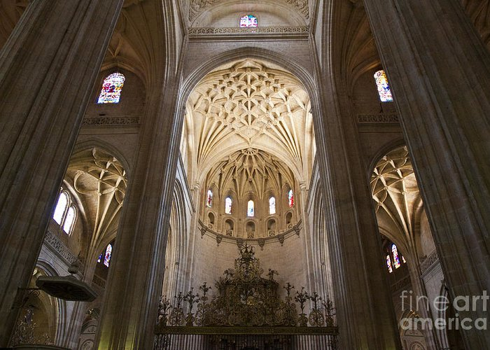 Cathedral Greeting Card featuring the photograph Catedral De Segovia by Scotts Scapes