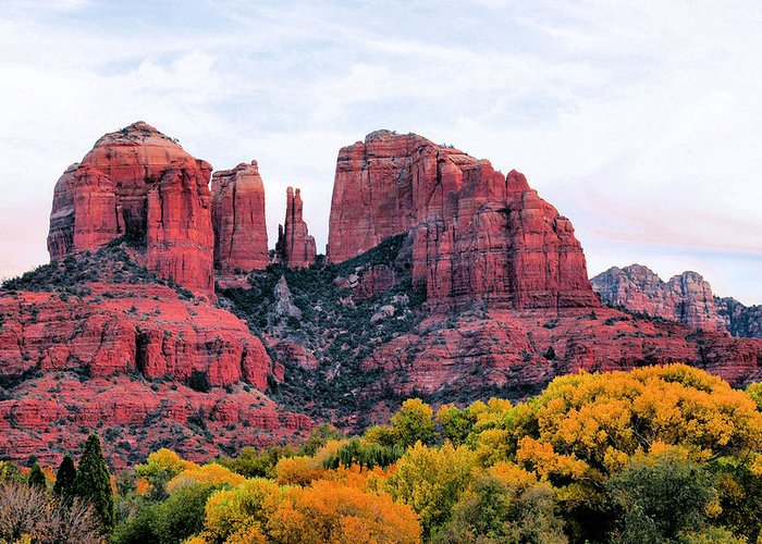 Cathedral Rock Greeting Card featuring the photograph Cathedral Rock by Kristin Elmquist