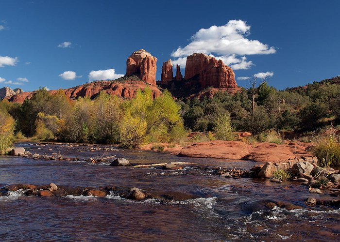 Cathedral Rock Greeting Card featuring the photograph Cathedral Rock Sedona by Joshua House