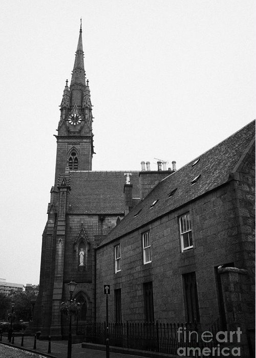 Roman Catholic Greeting Card featuring the photograph Catholic Cathedral Of St Mary Of The Assumption Aberdeen Scotland Uk by Joe Fox