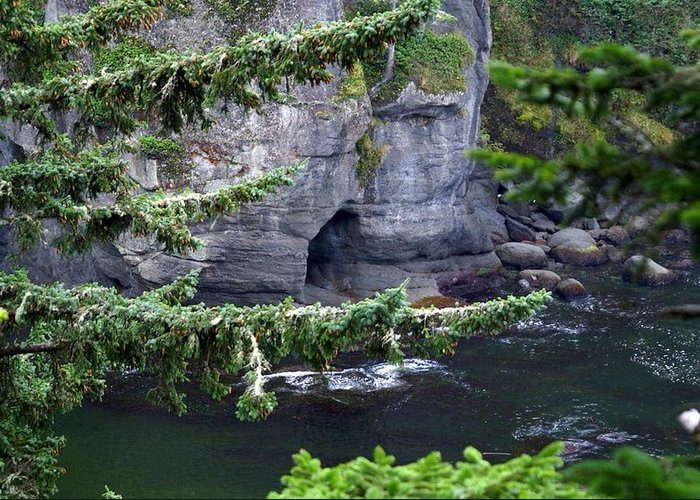 Beautiful Cape Flattery Greeting Card featuring the photograph Cave Of The Bay by Christy Leigh