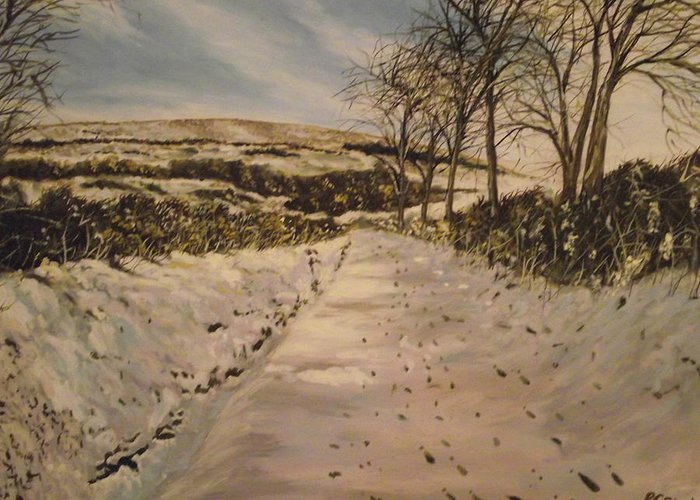Cavehill Country Park Greeting Card featuring the painting Cavehill Winter Walk by Robert Gary Chestnutt