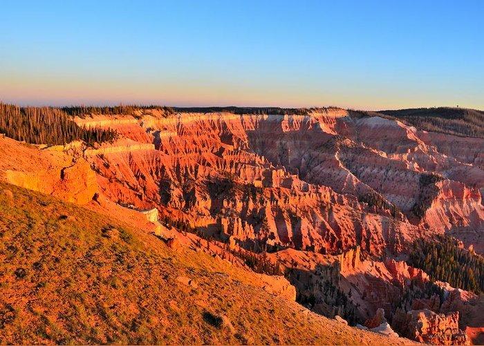 Cedar Breaks National Monument Greeting Card featuring the photograph Cedar Breaks Sunset by Mark Bowmer