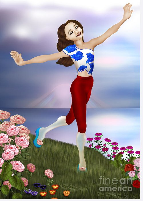 Celebrate Greeting Card featuring the digital art Celebrate by Pauline Moore