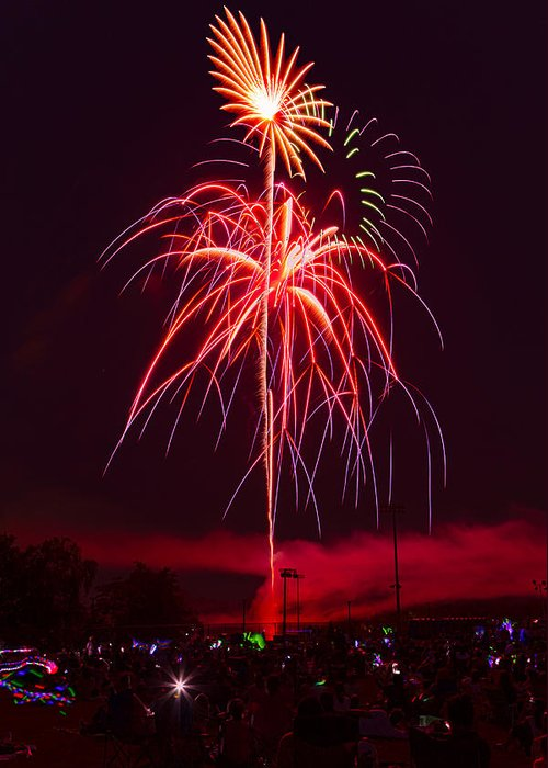 4th Of July Greeting Card featuring the photograph Celebrating America by David Hahn
