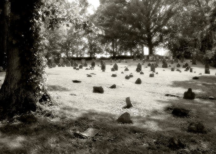 Photo Greeting Card featuring the photograph Cemetery At Mud Meeting House by Mark Jordan