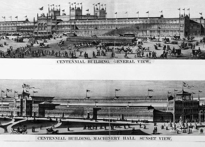 1876 Greeting Card featuring the photograph Centennial Expo, 1876 by Granger
