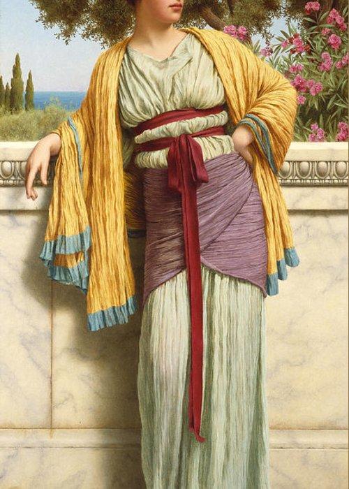 Cestilia Greeting Card featuring the painting Cestilia by John William Godward