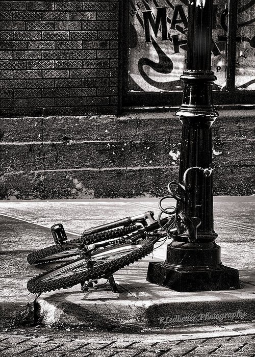 Chains Greeting Card featuring the photograph Chained Up by Renee Ledbetter