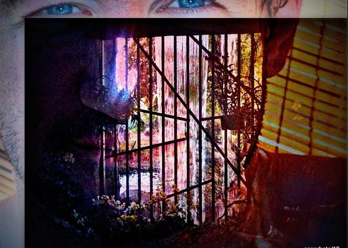 Challenge Greeting Card featuring the digital art Challenge Enigmatic Imprison Himself by Paulo Zerbato