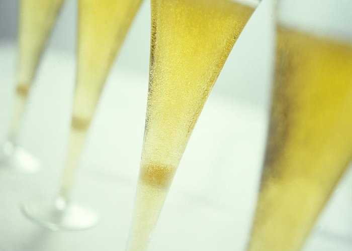 Champagne Greeting Card featuring the photograph Champagne by David Munns