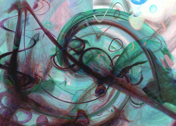 Chaos Greeting Card featuring the digital art Chaos by Linda Sannuti