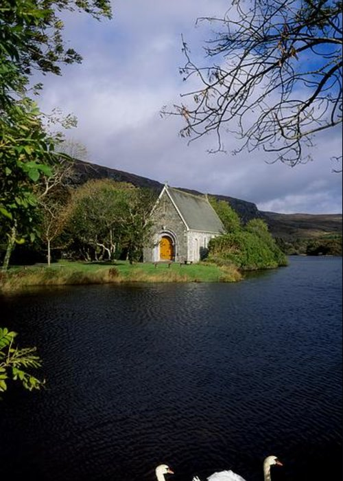 Birds Greeting Card featuring the photograph Chapel At Gougane Barra, Co Cork by The Irish Image Collection