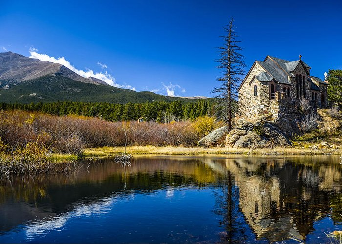 Chapel On The Rock Greeting Card featuring the photograph Chapel On The Rock by Mark Bowmer