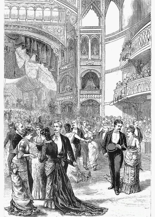 1880 Greeting Card featuring the photograph Charity Ball, 1880 by Granger