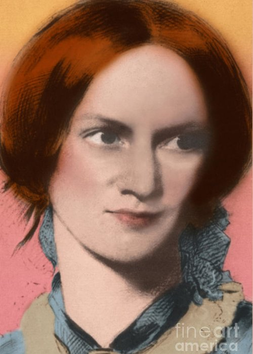 Author Greeting Card featuring the photograph Charlotte Bronte, English Author by Science Source