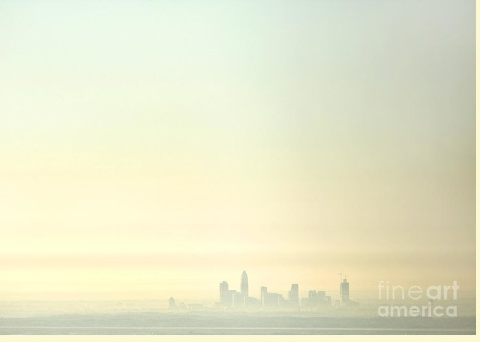 North Carolina Greeting Card featuring the photograph Charlotte Morning Mist by Patrick Schneider
