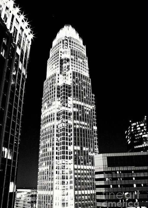 Charlotte Greeting Card featuring the photograph Charlotte North Carolina Bank Of America Building by Kim Fearheiley