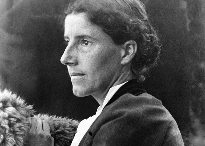 1900 Greeting Card featuring the photograph Charlotte Perkins Gilman by Granger