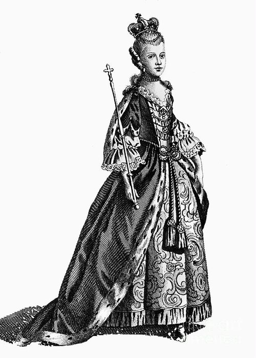 1780 Greeting Card featuring the photograph Charlotte Sophia (1744-1818) by Granger