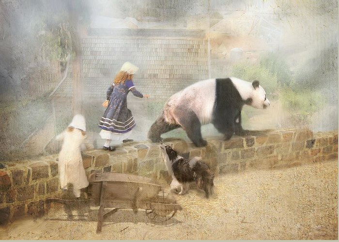 Panda Greeting Card featuring the photograph Chasing Childhood Dreams by Trudi Simmonds