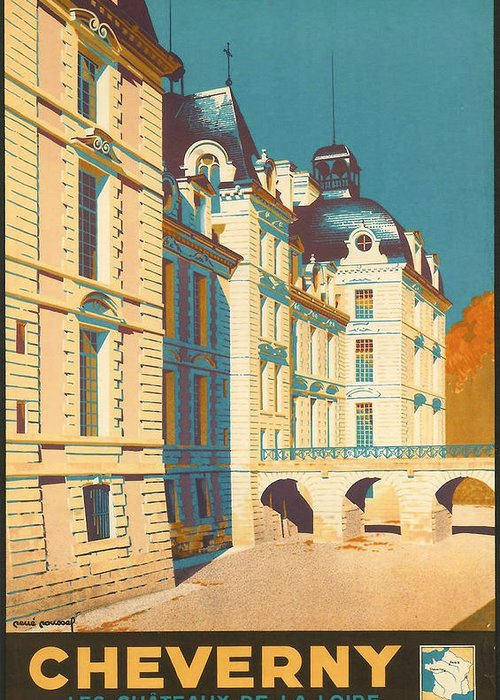 Ancient Greeting Card featuring the digital art Chateau De Cheverny by Georgia Fowler