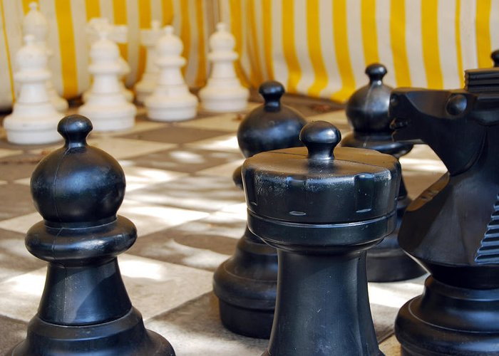 Chess Greeting Card featuring the photograph Checkmate by Christina Vodas