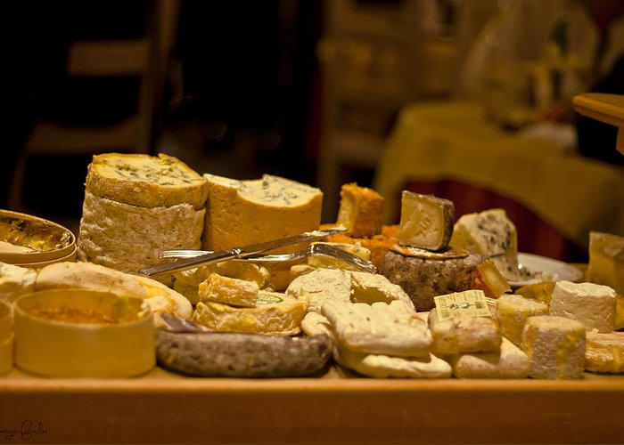Aged Greeting Card featuring the photograph Cheese Selection by Georgia Fowler