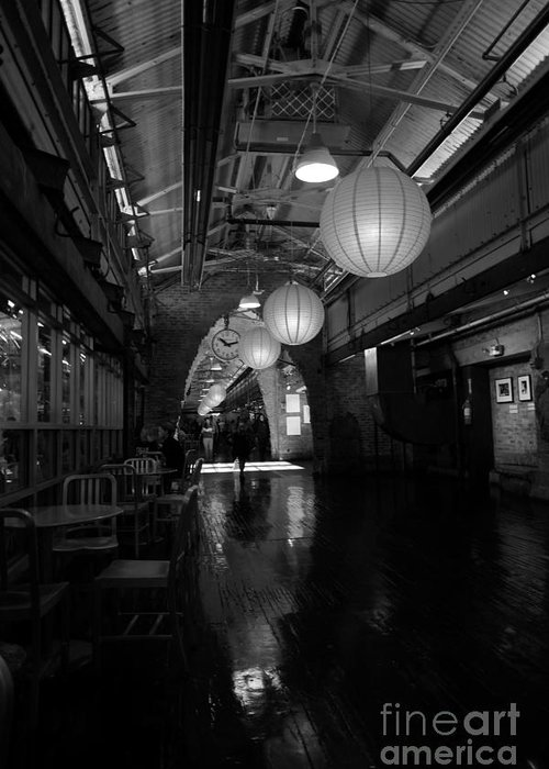 Chelsea Market Greeting Card featuring the photograph Chelsea Market Interior by David Bearden