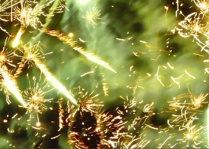 Explosions Greeting Card featuring the photograph Chemistry by Sharon Lisa Clarke