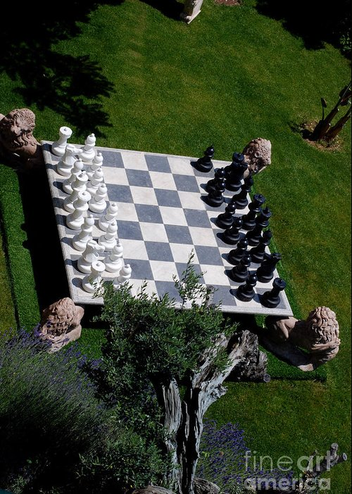 Chess Greeting Card featuring the photograph Chess At Large II by Andrea Simon