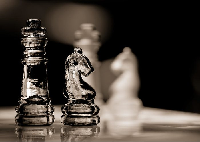 Chess Piece Photographs Greeting Cards