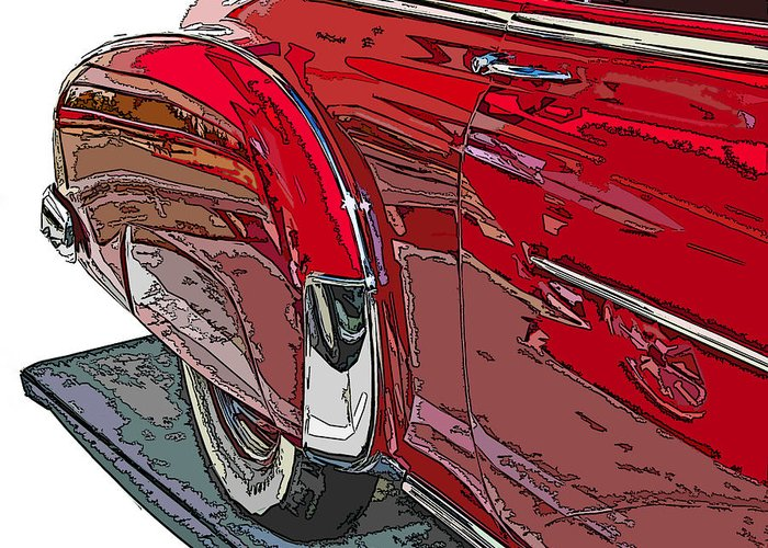 Chevy Greeting Card featuring the photograph Chevrolet Fleetline Deluxe Rear Wheel Study by Samuel Sheats