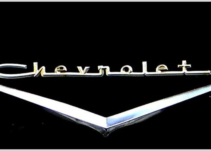 Chevrolet Greeting Card featuring the photograph Chevrolet Logo by Leslie Revels