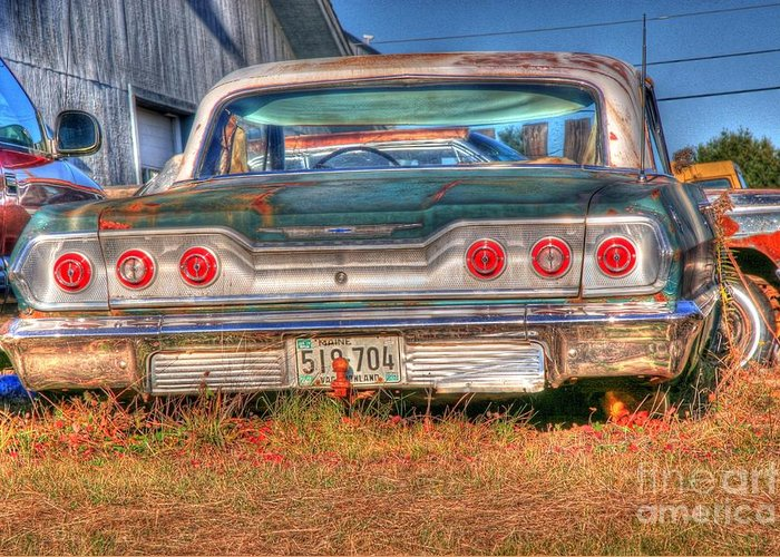 Chevy Greeting Card featuring the photograph Chevy Blue by Brenda Giasson