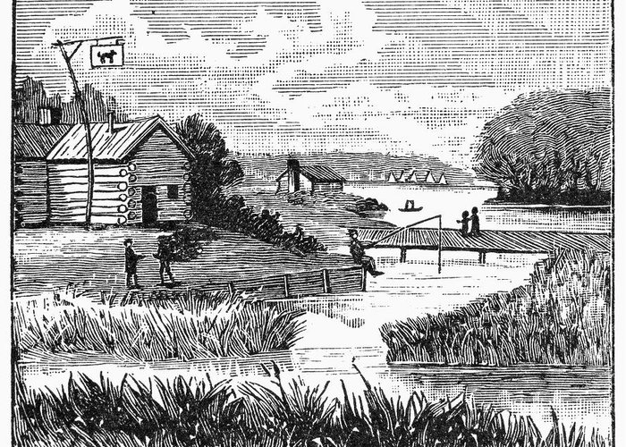 1833 Greeting Card featuring the photograph Chicago, 1833 by Granger