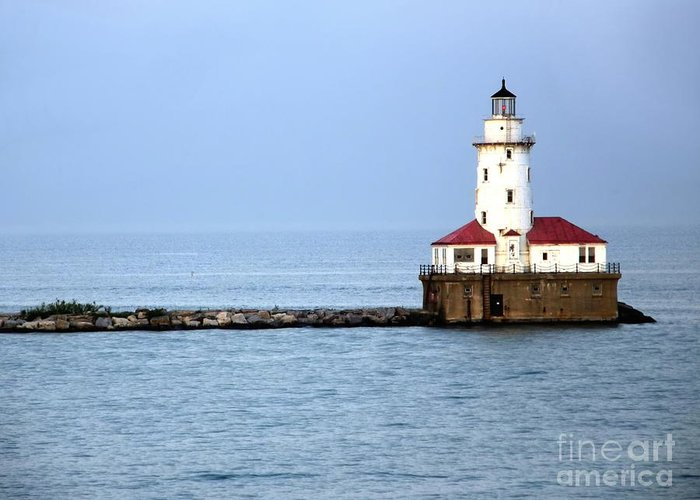 Chicago Greeting Card featuring the photograph Chicago Lighthouse by Sophie Vigneault