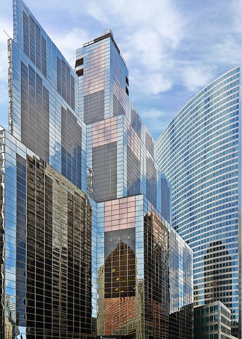 Chicago Greeting Card featuring the photograph Chicago - One South Wacker And Hyatt Center by Christine Till