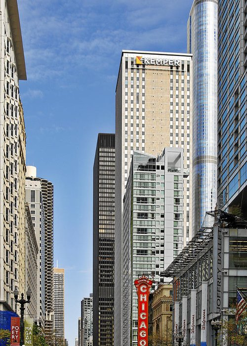 Avenues Greeting Card featuring the photograph Chicago State Street - That Great Street by Christine Till