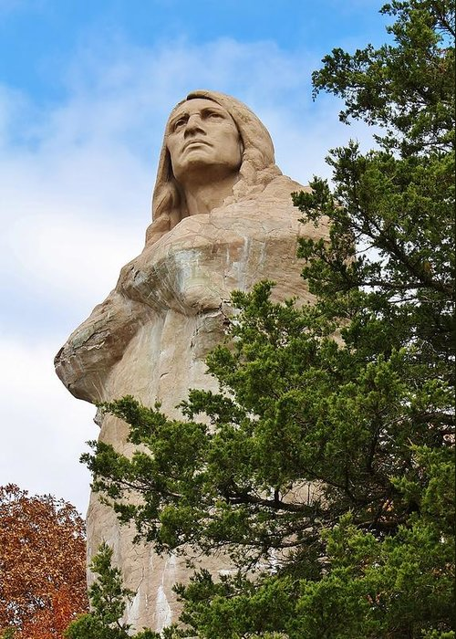Statue Greeting Card featuring the photograph Chief Blackhawk Statue by Bruce Bley