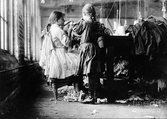 Child Labor Greeting Card featuring the photograph Child Labor by Omikron