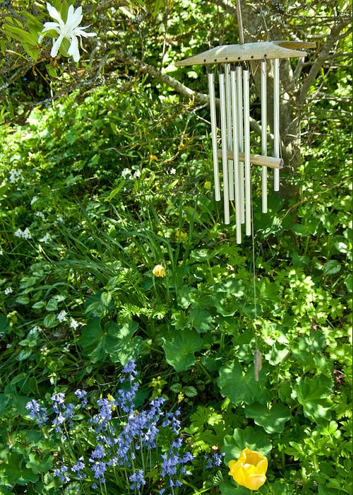 Blue Bells Greeting Card featuring the photograph Chimes And Bells by Travis Crockart