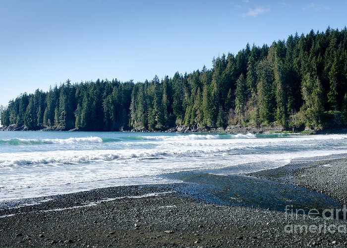 China Beach Greeting Card featuring the photograph China Surf China Beach Juan De Fuca Provincial Park Bc Canada by Andy Smy