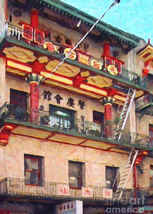 Chinatown Greeting Card featuring the photograph Chinatown by Wingsdomain Art and Photography