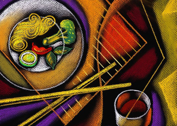 Noodles Paintings Greeting Cards