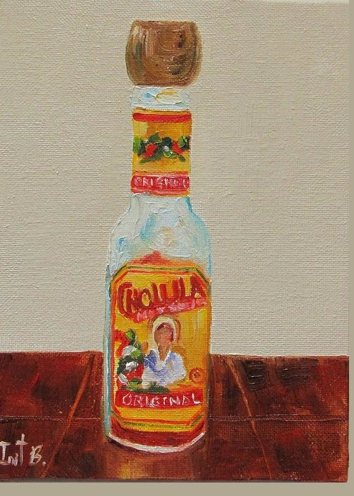 Still Life Greeting Card featuring the painting Cholula by Irit Bourla
